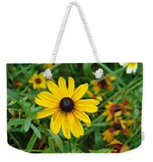 A Beautiful Close Up Of A Sunflower Weekender Tote Bag