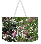A Bed Of Beautiful Different Color Flowers Weekender Tote Bag