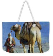 A Bedoueen Family In Wady Mousa Syrian Desert Weekender Tote Bag