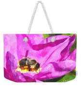 A Bee In A Rose Brpwc Weekender Tote Bag