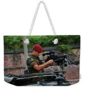 A Belgian Paratrooper Of The 1st Weekender Tote Bag by Luc De Jaeger