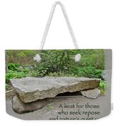 A Bench For Those Who Seek Repose Weekender Tote Bag