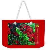 A Berry Merry Christmas Weekender Tote Bag