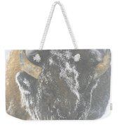 A Bison Covered By Ice And Fog Weekender Tote Bag