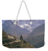 A Blue Sky And Mountain Range Weekender Tote Bag