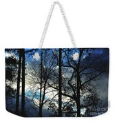 A Blue Winter's Eve Weekender Tote Bag