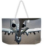 A Boom Operator Refuels An A-10 Weekender Tote Bag by Stocktrek Images