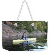 A Boy Kayaking Weekender Tote Bag