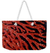 A Bright Red Gorgonian Soft Coral Weekender Tote Bag