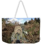 A British Army Sniper Team Dressed Weekender Tote Bag