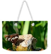 A Butterfly Enjoys A Drink Weekender Tote Bag