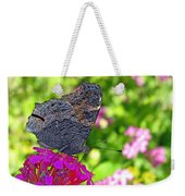 A Butterfly On The Pink Flower Weekender Tote Bag