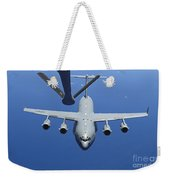 A C-17 Globemaster IIi Approaches Weekender Tote Bag by Stocktrek Images