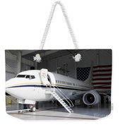 A C-40 Clipper In A Hangar Weekender Tote Bag