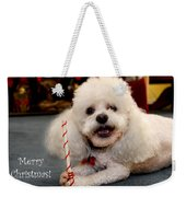 A Candycane For Puppy Weekender Tote Bag