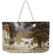 A Cart By A Village Inn Weekender Tote Bag
