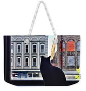 A Cat's View Weekender Tote Bag by Joan Meyland