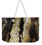A Caver Is Dwarfed By Giant Calcite Weekender Tote Bag