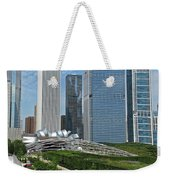 A Chicago View Weekender Tote Bag
