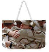 A Chief Master Sergeant Consoles Weekender Tote Bag