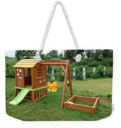 A Childs Playing Equipment In A Green Location Weekender Tote Bag