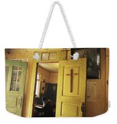 A Clergyman Studies Weekender Tote Bag