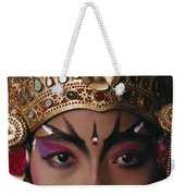 A Close View Of A Face Of A Balinese Weekender Tote Bag