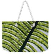 A Close View Of A Fern Weekender Tote Bag