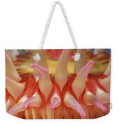 A Close View Of A Red Sea Anemones Weekender Tote Bag