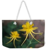 A Close View Of A Yellow Columbine Weekender Tote Bag