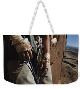 A Close View Of Rock Climber Becky Weekender Tote Bag