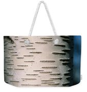 A Close View Of White Birch Bark Weekender Tote Bag