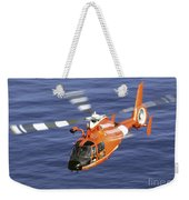 A Coast Guard Hh-65a Dolphin Rescue Weekender Tote Bag by Stocktrek Images