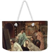 A Collector Of Pictures At The Time Of Augustus Weekender Tote Bag by Sir Lawrence Alma-Tadema