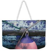 A Colorful Buoy Hangs From Ropes Weekender Tote Bag