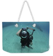 A Combat Photographer Familiarizes Weekender Tote Bag