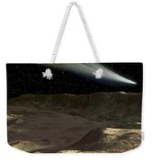 A Comet Passes Over The Surface Weekender Tote Bag