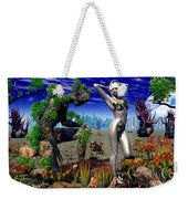 A Conceptual Idea Showing Nature Weekender Tote Bag