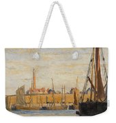 A Continental Harbor Weekender Tote Bag by William Lionel Wyllie