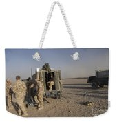 A Control Center For The Howitzer 105mm Weekender Tote Bag