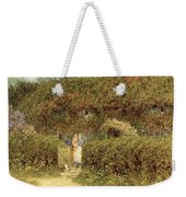A Cottage At Freshwater Isle Of Wight Weekender Tote Bag by Helen Allingham