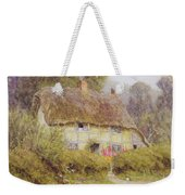 A Country Cottage Weekender Tote Bag by Helen Allingham