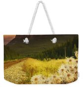 A Country Road With A Mountain In The Weekender Tote Bag