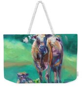 A Cow And Her Calf Weekender Tote Bag