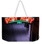 A Dark And Lonely Post Alley - Seattle  Weekender Tote Bag