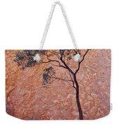 A Desert Bloodwood Tree Against The Red Weekender Tote Bag