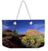 A Desert Landscape With Rock Formations Weekender Tote Bag