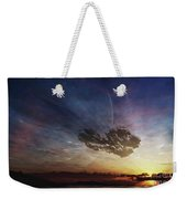 A Despairing Man Sits On The Beach Weekender Tote Bag
