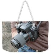A Digital Camera Is The Chief Tool Of This Photographer Weekender Tote Bag