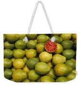 A Display Of Guavas In An Open Air Weekender Tote Bag